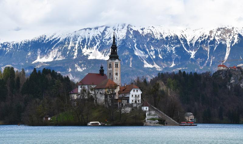 De omgeving van Ljubljana in Slovenië