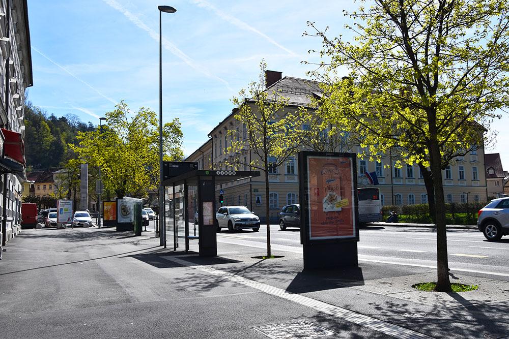 Bushalte in Ljubljana in Slovenie