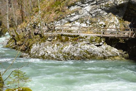 De Vintgar kloof in Slovenië