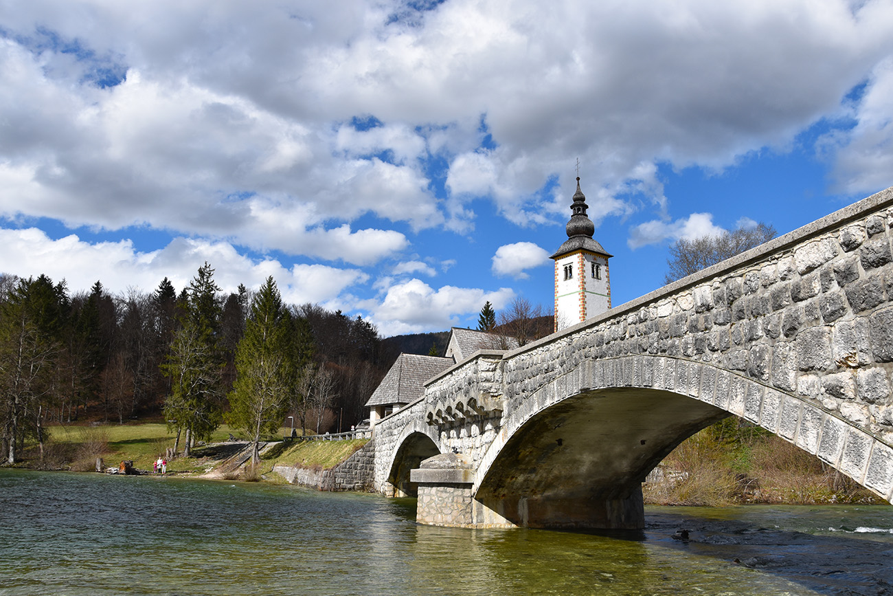 Meer van Bohinj in Slovenie