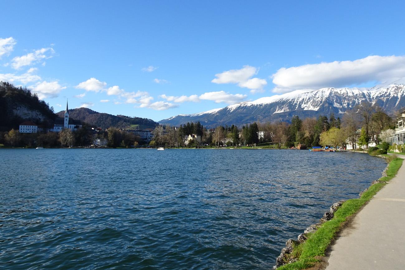 Het meer van Bled in Slovenie