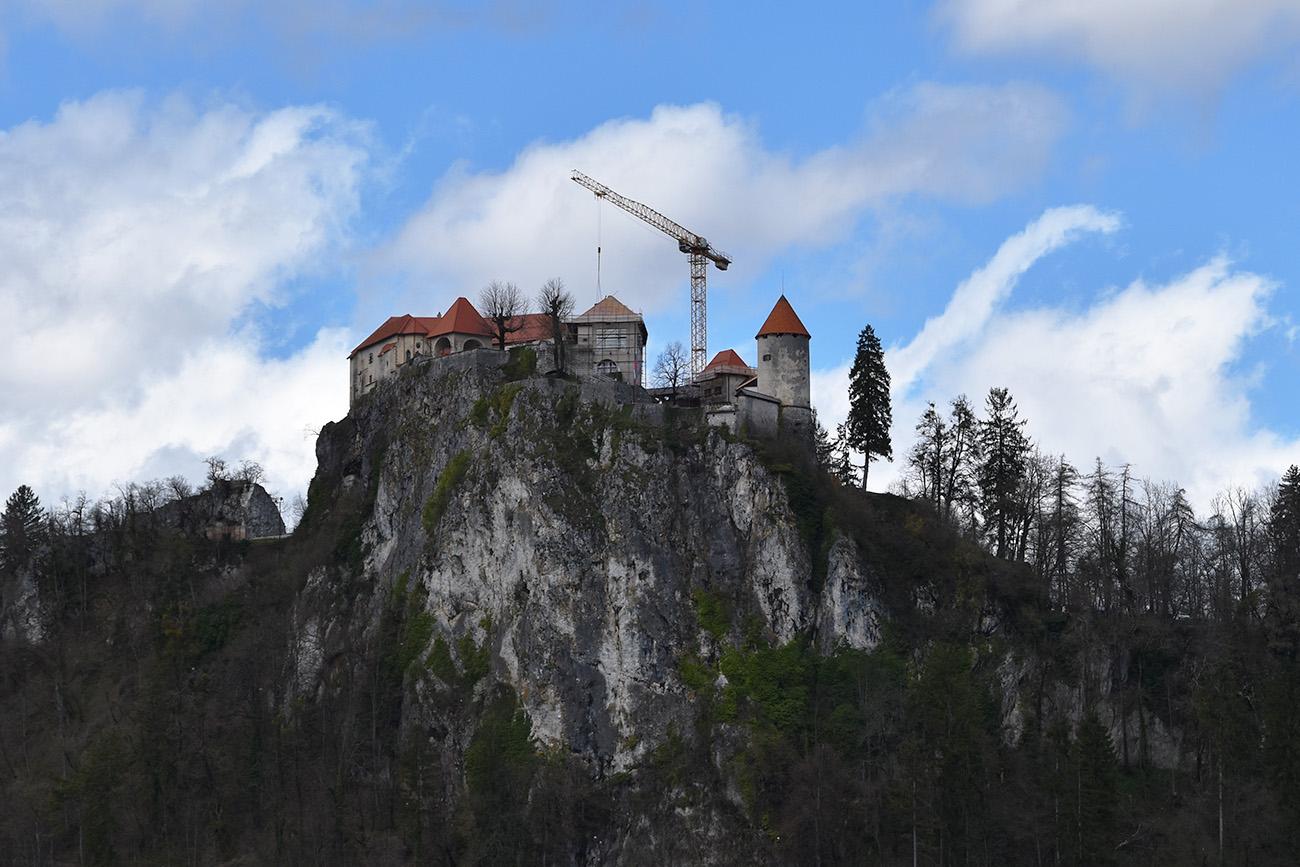 Het kasteel van Bled in Slovenië